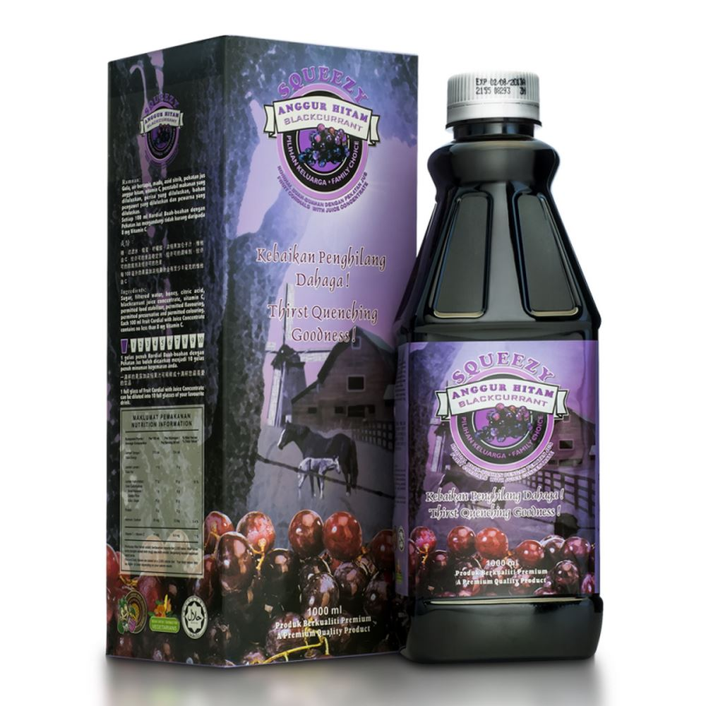 SQUEEZY Blackcurrant Cordial with Juice Concentrate