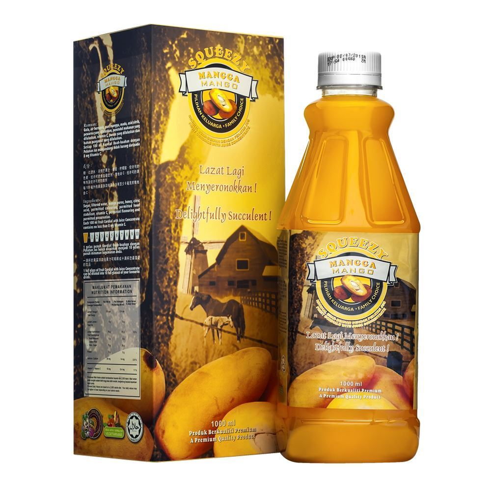 SQUEEZY Mango Cordial with Juice Concentrate