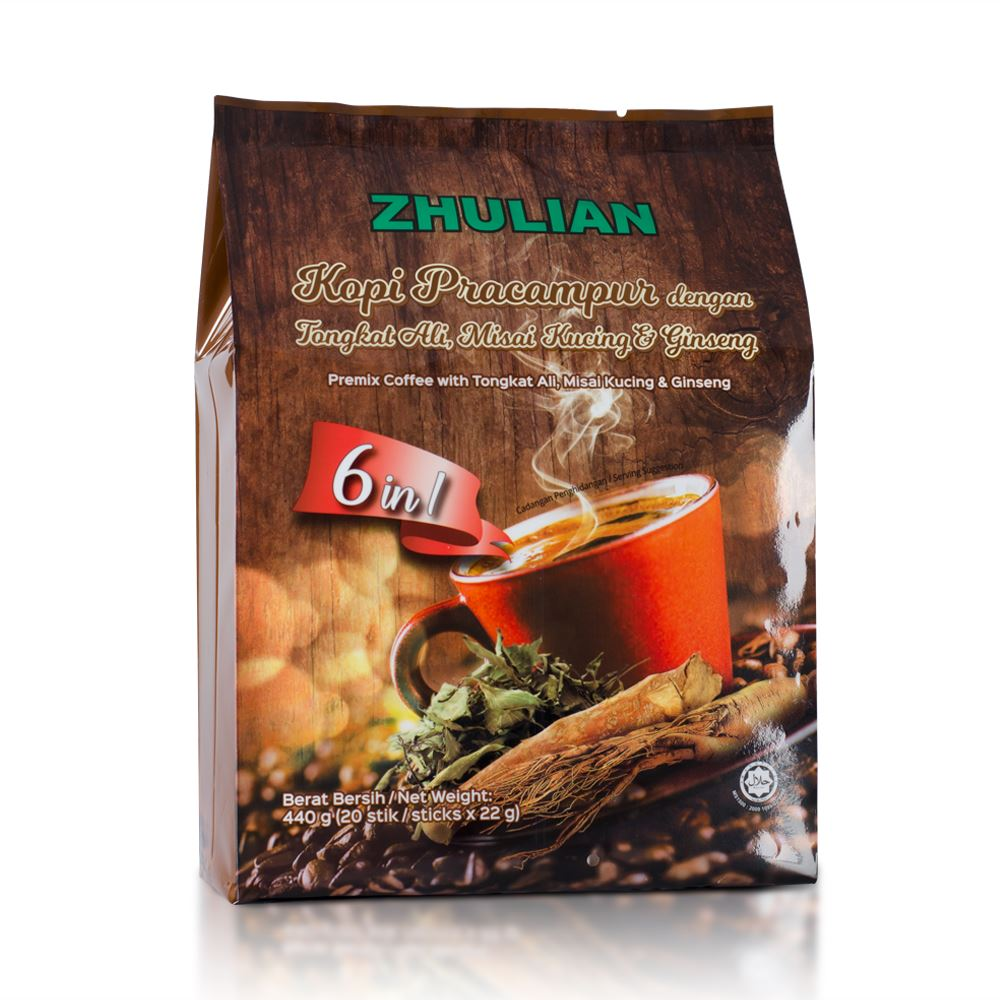 ZHULIAN Premix Coffee with Tongkat Ali, Misai Kucing & Ginseng