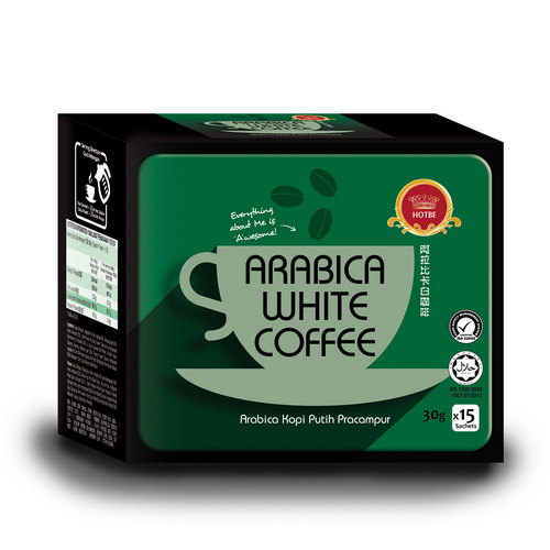 Hotbe Arabica White Coffee (30g x 15 sachets)
