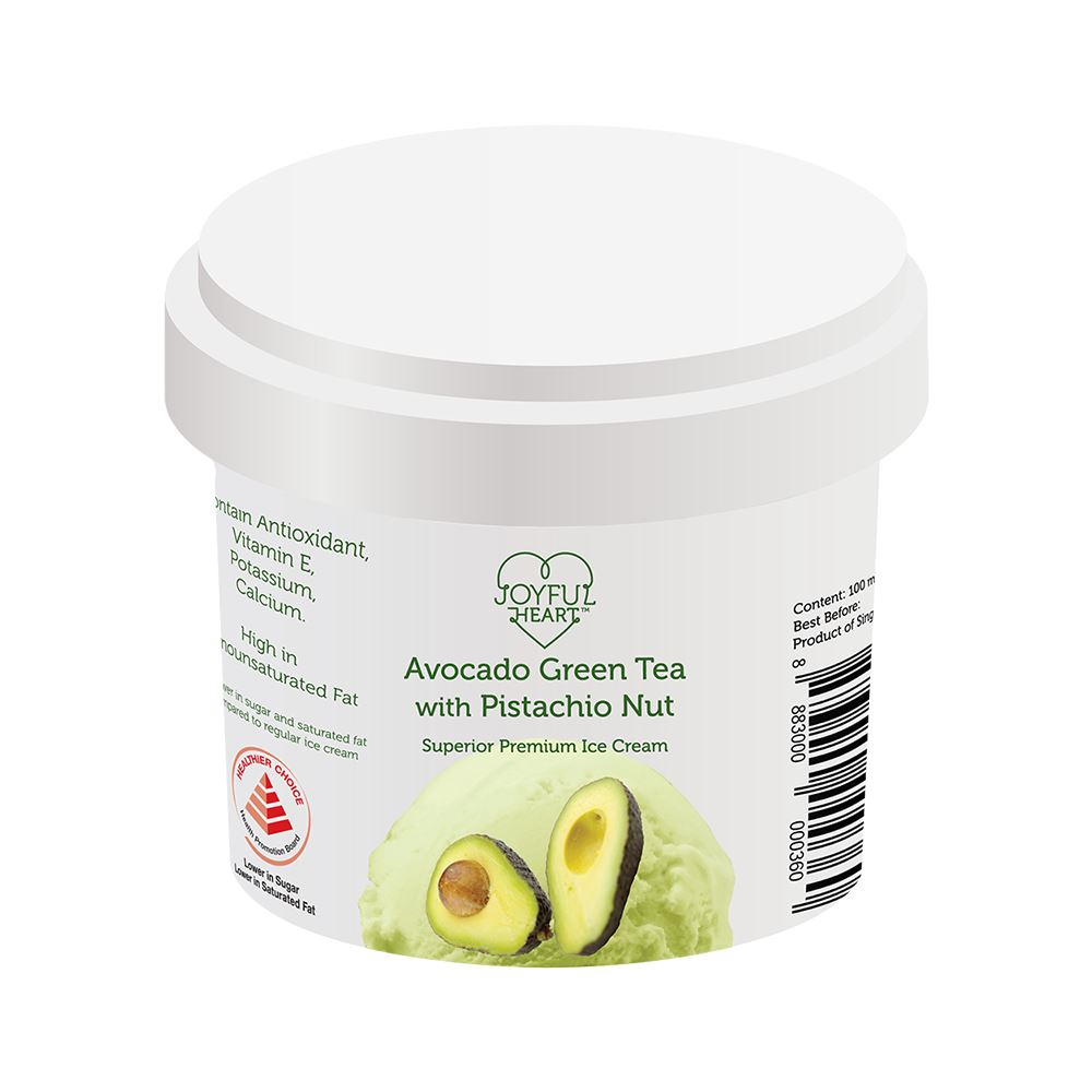 Avocado Green Tea With Pistachio Nut Superior Premium Ice Cream