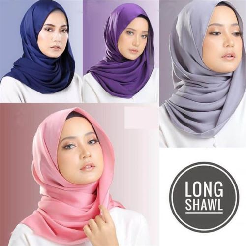 Fashional Lady Hot Selling Top Quality New Design Plain Satin Hijab Wholesale
