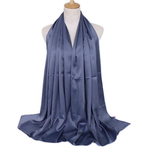 Fashional Lady Hot Selling Top Quality New Design Plain Satin Hijab Wholesale