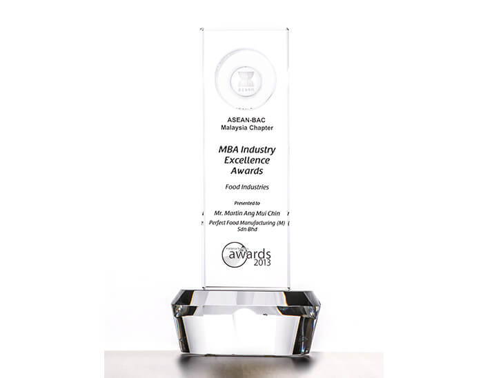 MBA Industry Excellence Award  (Food Industries) 2013