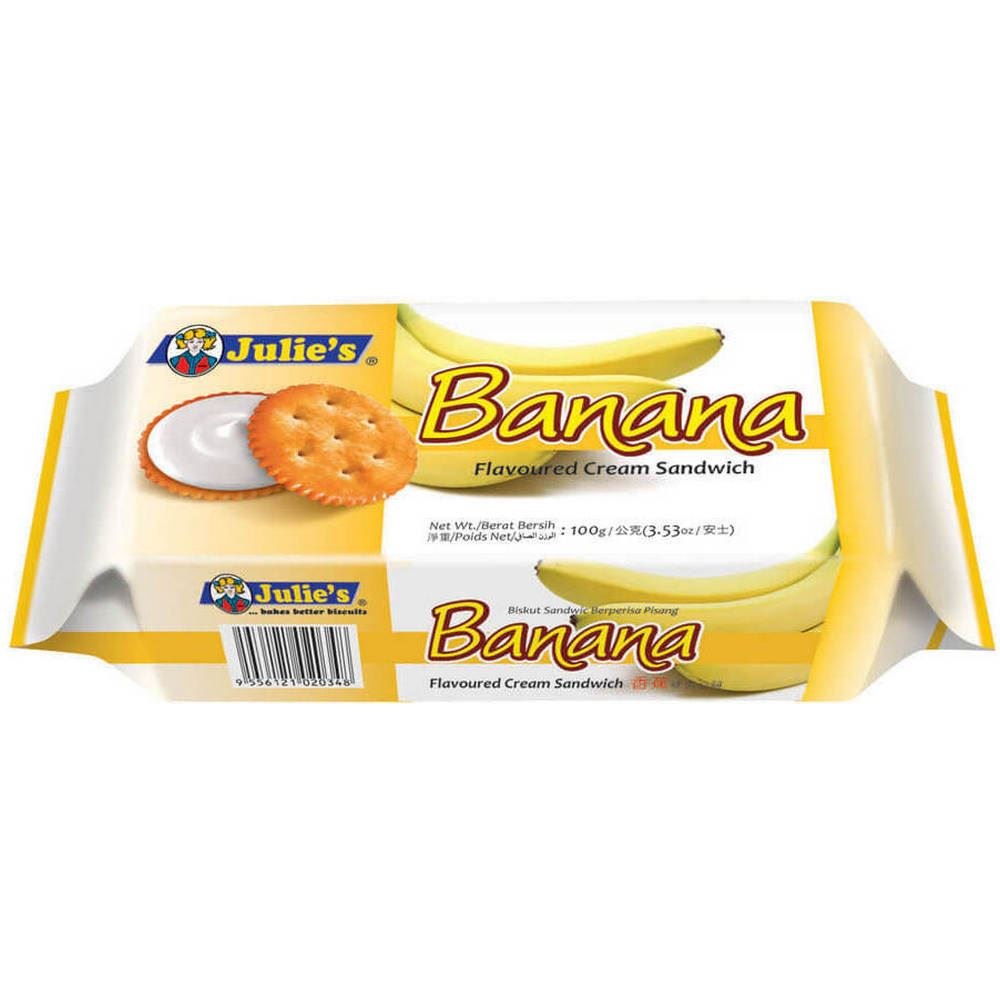 Banana Flv. Cream Sandwich 100g
