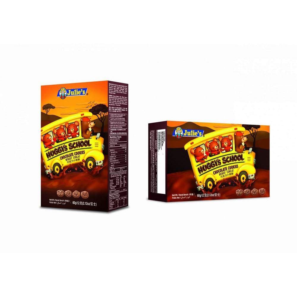 Huggy's School Chocolate Flavoured Cookies 60g