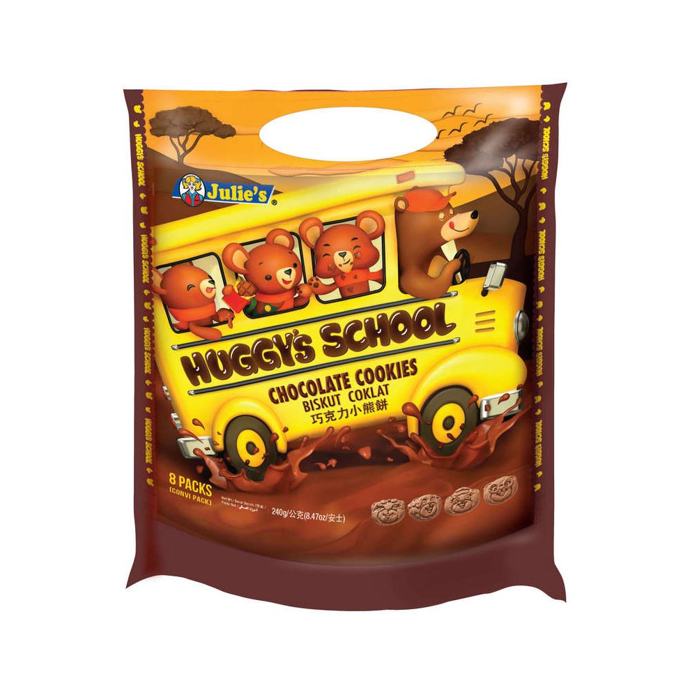 Huggy's School Chocolate Flavoured Cookies (Packet) 240g
