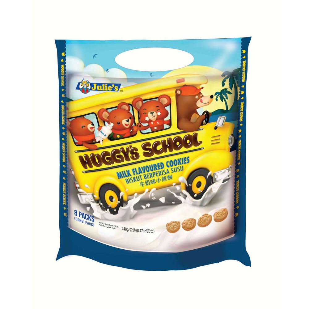 Huggy's School Milk Flavoured Cookies (Packet) 240g