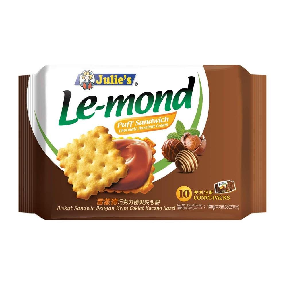 Le-Mond Puff Sandwich Chocolate Hazelnut Cream 180g