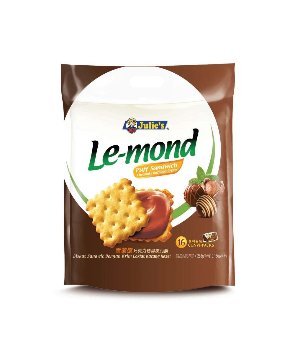 Le-Mond Puff Sandwich Chocolate Hazelnut Cream 288g