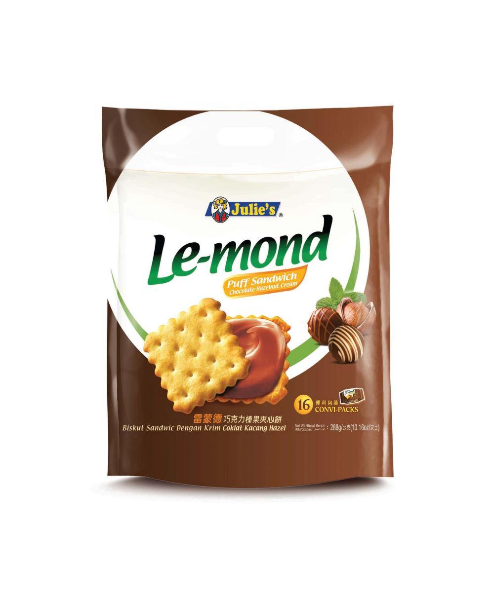 Le-Mond Puff Sandwich Chocolate Hazelnut Cream 288g