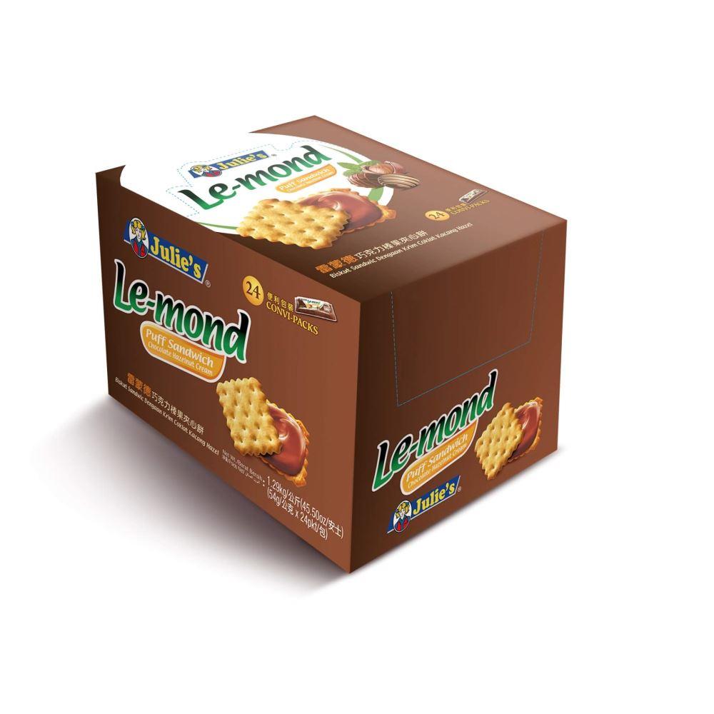 Le-Mond Puff Sandwich Chocolate Hazelnut Cream 54g