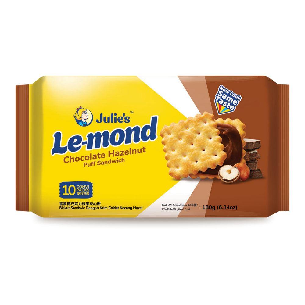 Le-Mond Puff Sandwich Chocolate Hazelnut Cream 180g