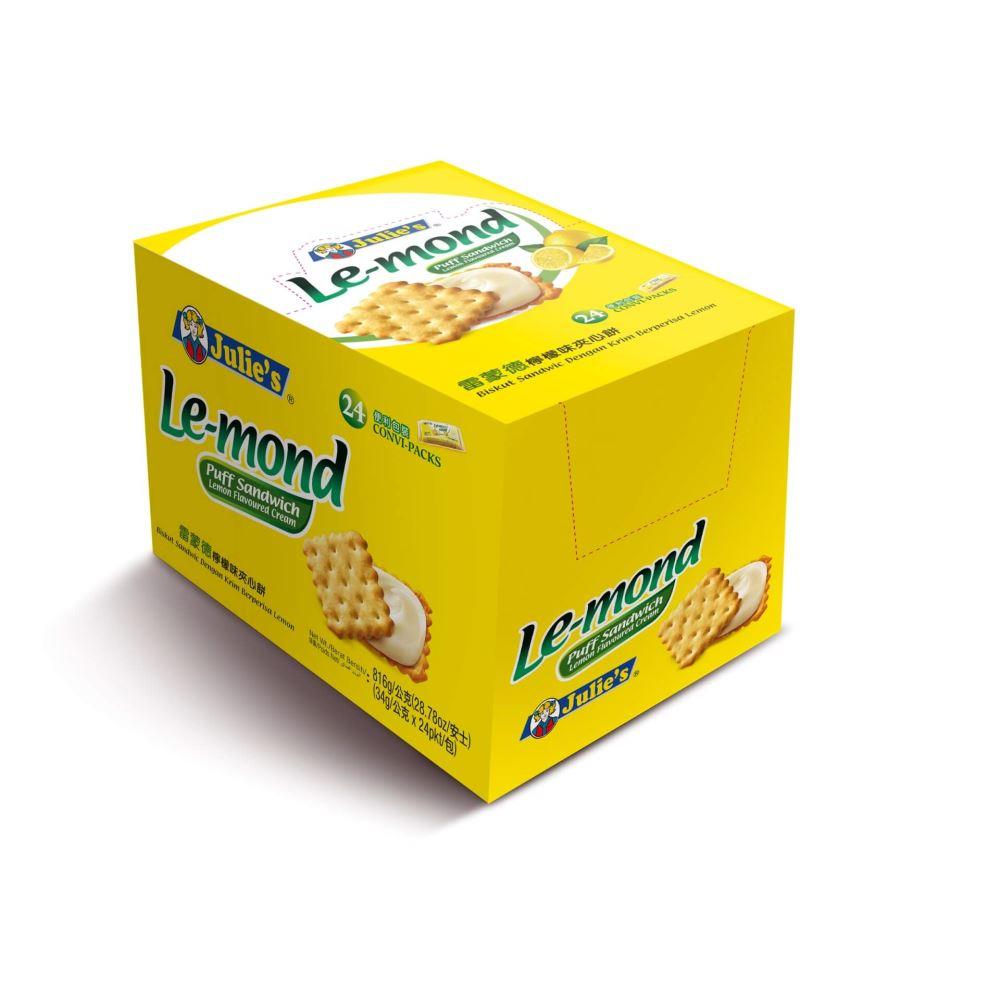 Le-Mond Puff Lemon Sandwich 34g