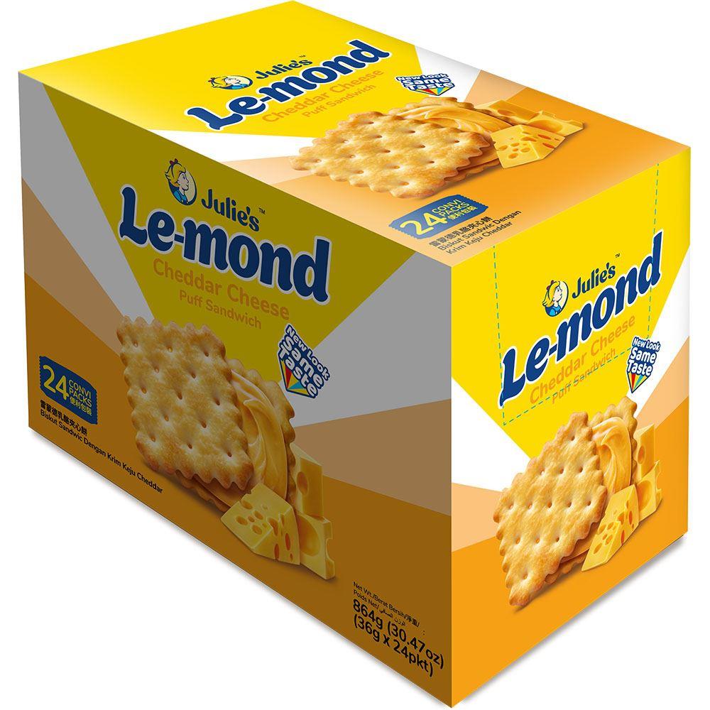 Le-Mond Puff Cheddar Cheese Sandwich 864g