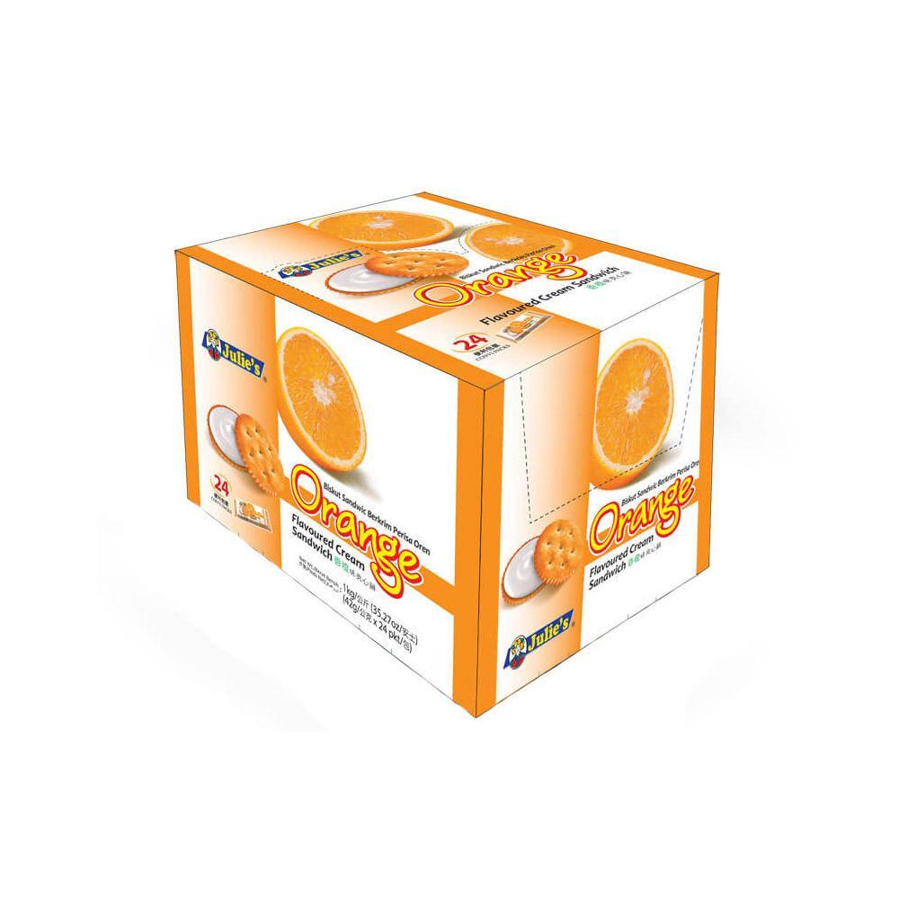 Orange Flavor Cream Sandwich 42g
