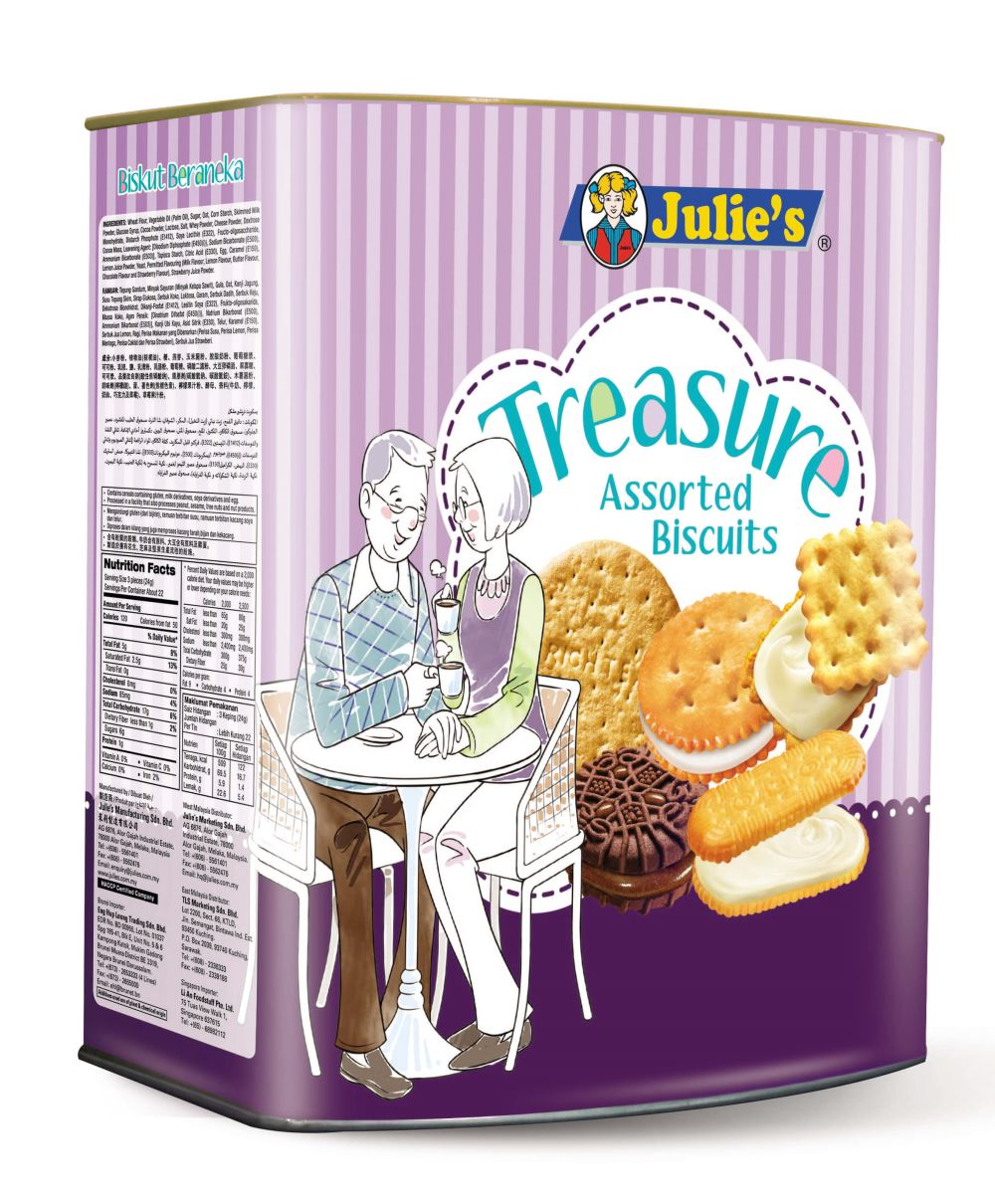 Treasure Assorted Biscuits 530g