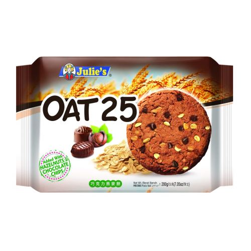 Oat 25 Added with Hazelnut and Chocolate Chips 200g