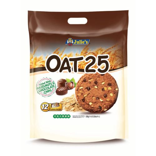 Oat 25 Added with Hazelnut and Chocolate Chips (12's) 300g