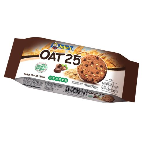 Oat 25 Added with Hazelnut and Chocolate Chips (12's) 50g