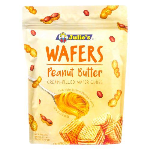 Julie's Wafers Peanut Butter Cream-Filled Wafer Cubes 150g
