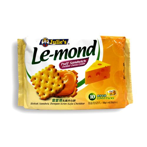 Le-Mond Puff Cheddar Cheese Sandwich (10's) 180g