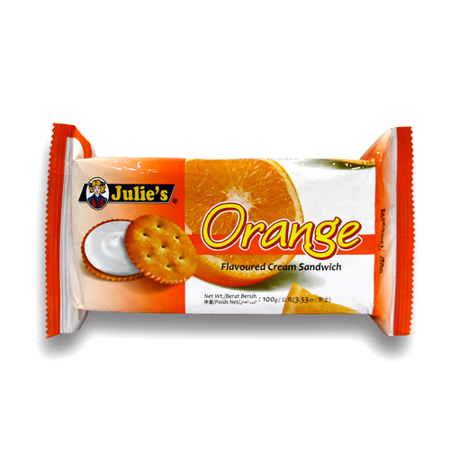 Orange Flv Cream Sandwich 100g