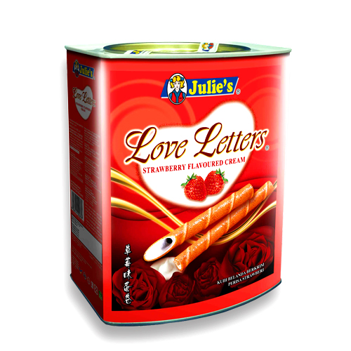 Love Letters Strawberry Flavoured Cream 700g