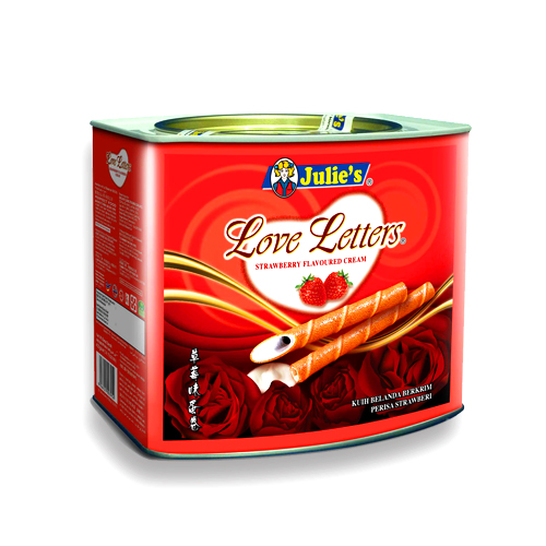 Love Letters Strawberry Flavoured Cream 400g