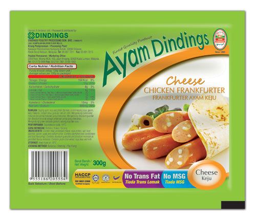 AD Cheese Chicken Frankfurter 300g