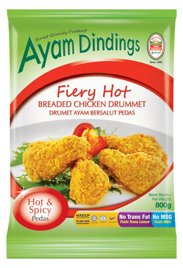 AD Fiery Hot Breaded Chicken Drummet 800g