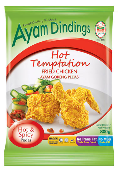 AD Hot Temptation Fried Chicken 800g