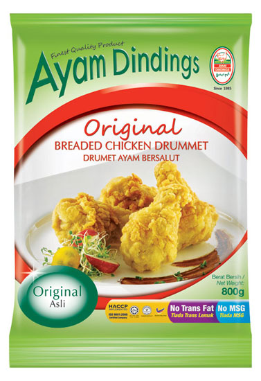 AD Breaded Chicken Drummet 800g