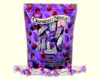 Soft Almond Nougat Candy - Cranberry