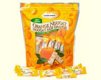 Soft Almond Nougat Candy - Orange