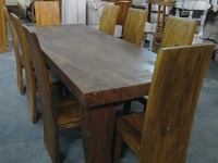 Brazil Dinner Table 100cmx270cm & Blok Meh Dinner Chair