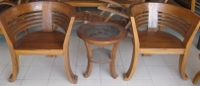 Basket Chair 1+1+1 Table