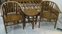 Carved Betawi Chair 1+1+1 Table