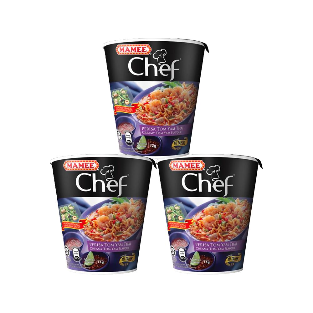 Mamee Chef Cup 3's Creamy Tom Yam 16 x 3 x 72g