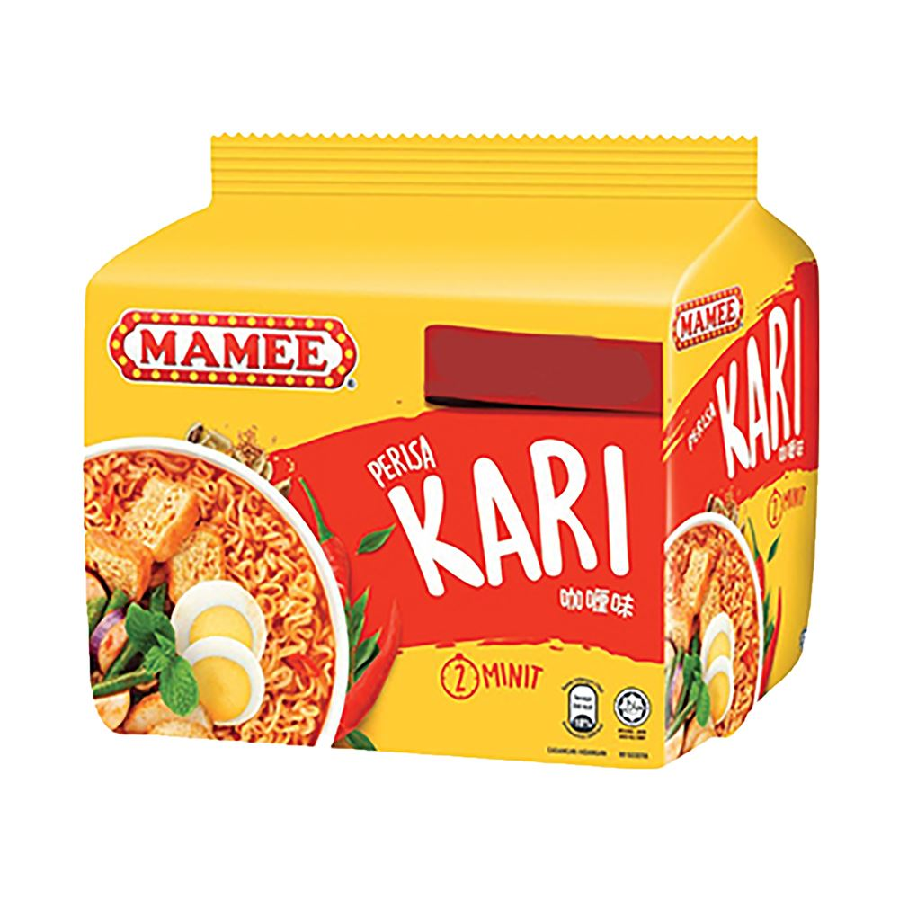 Mamee Premium Instant Noodle Curry 8 x 5 x 75g