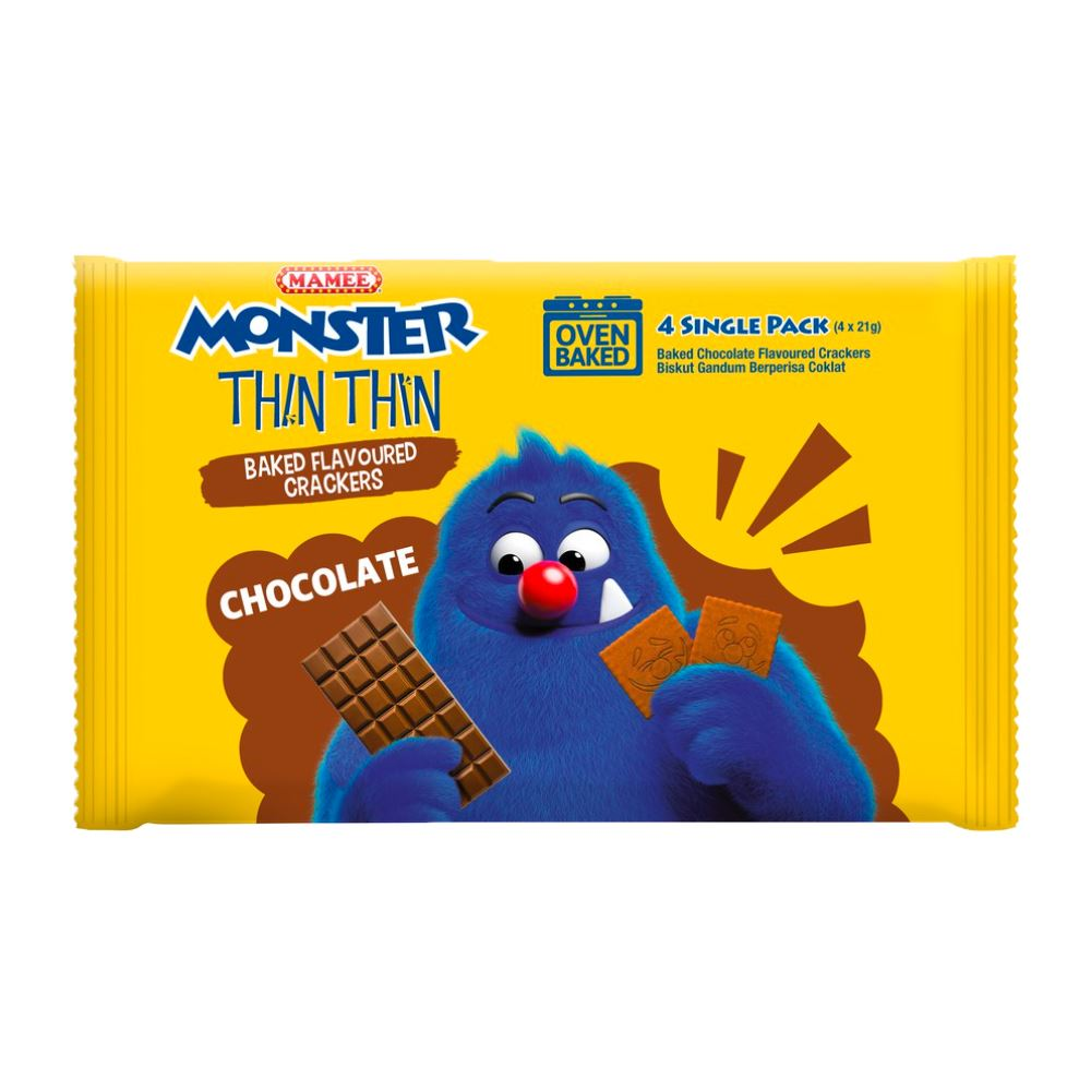 Mamee Monster Biskidz Chocolate 12 x 8 x 21g