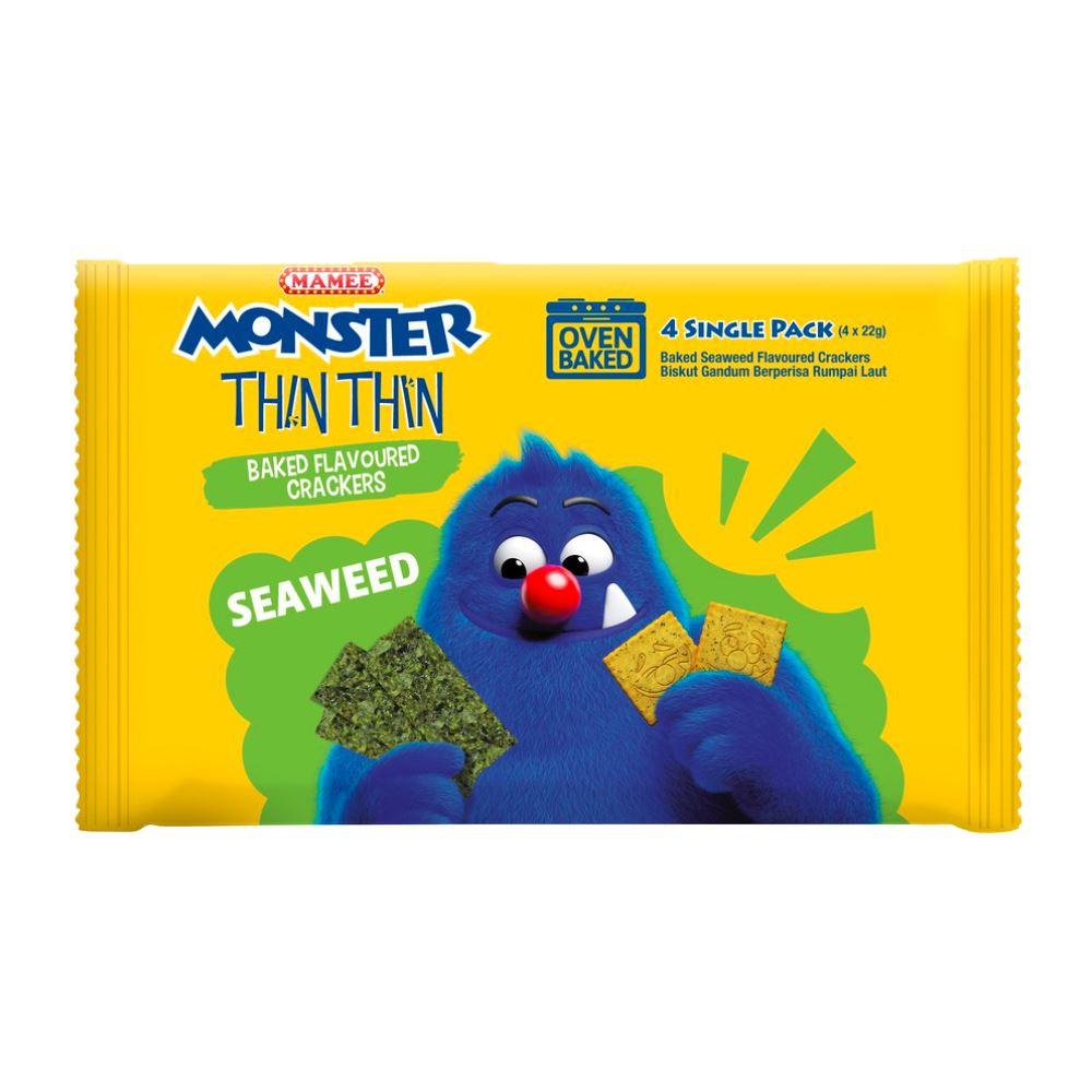 Mamee Monster Biskidz Seaweed 12 x 8 x 21g