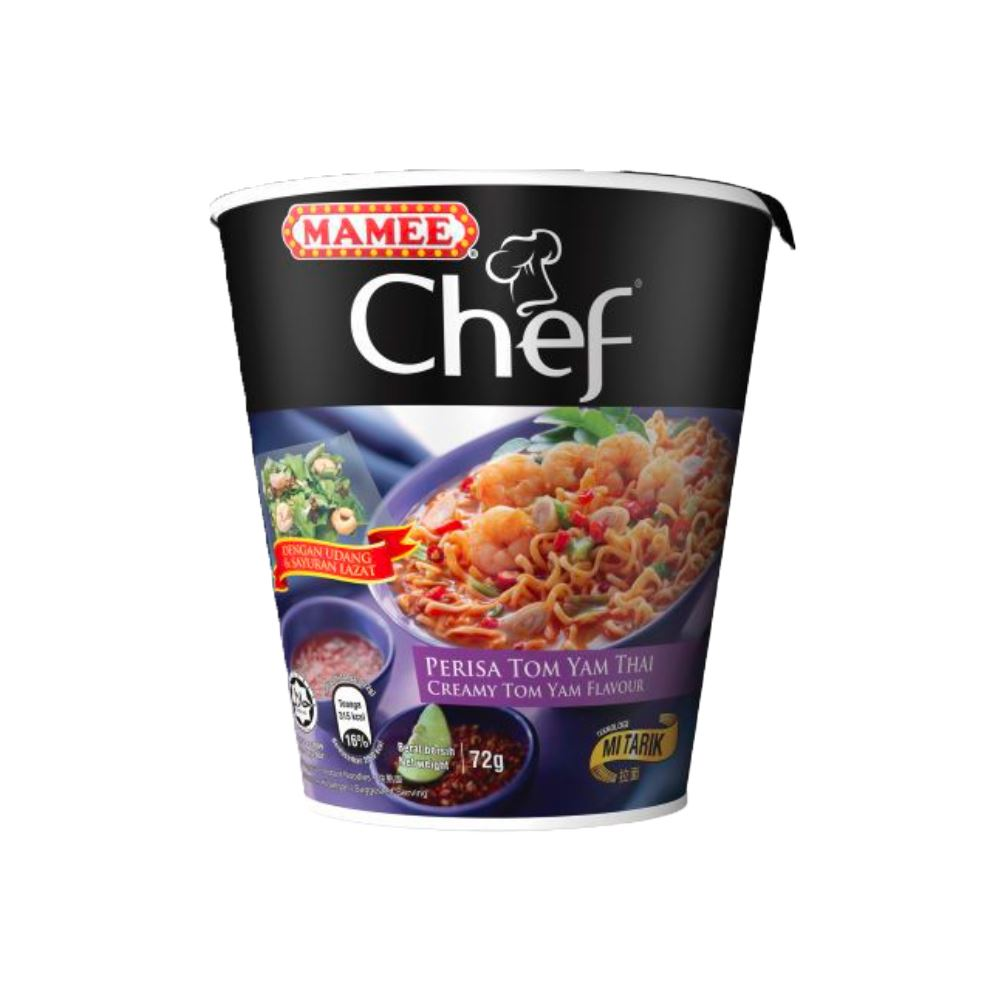 Mamee Chef Cup 1's Creamy Tom Yam 24 x 72g