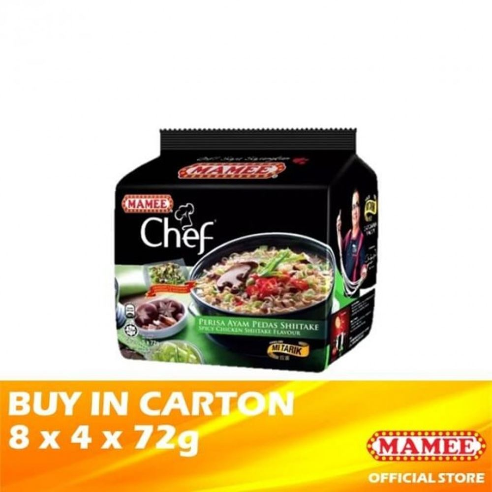 Mamee Chef Bundle Spicy Chicken Shiitake 8 x 4 x 72g