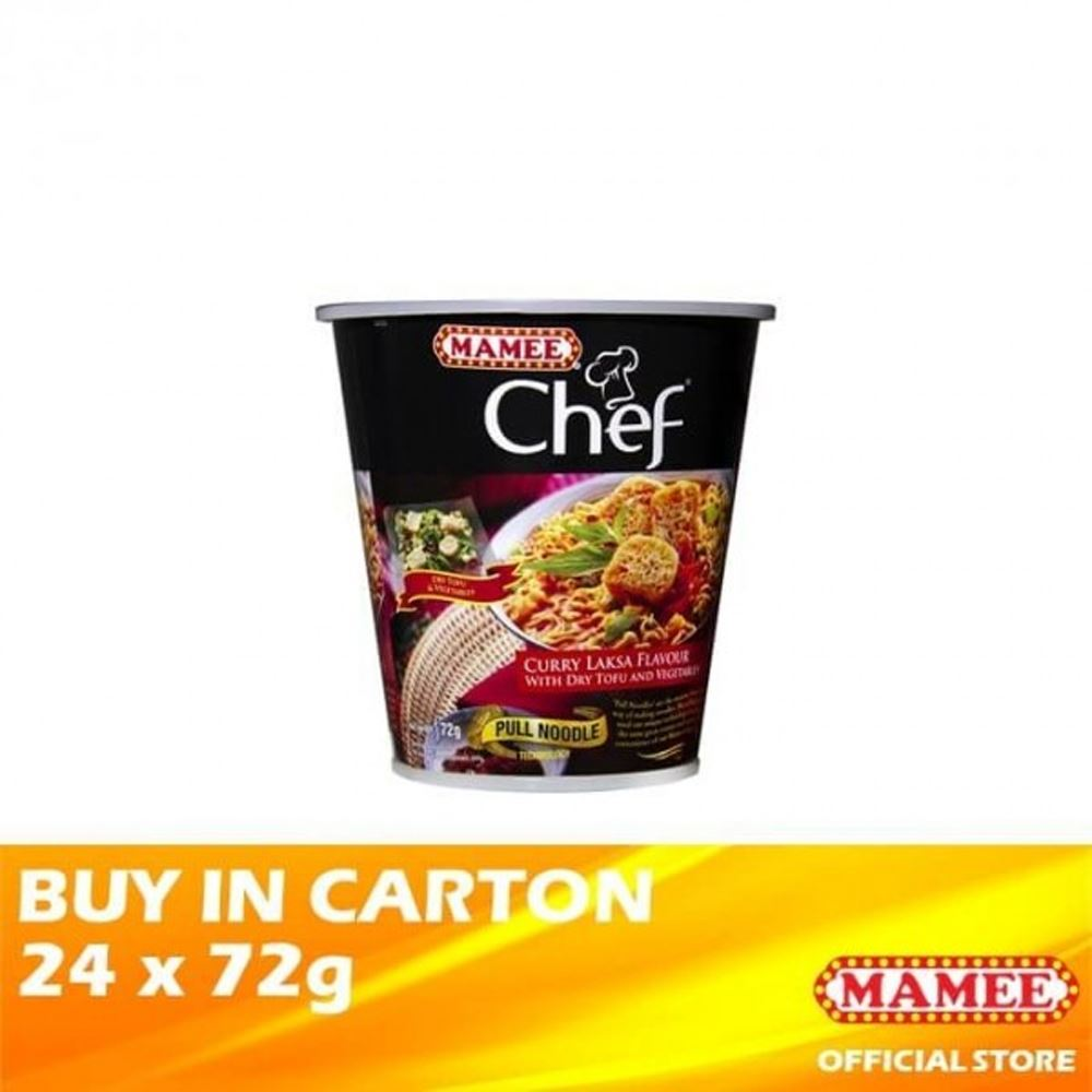 Mamee Chef Cup 1's Curry Laksa 24 x 72g