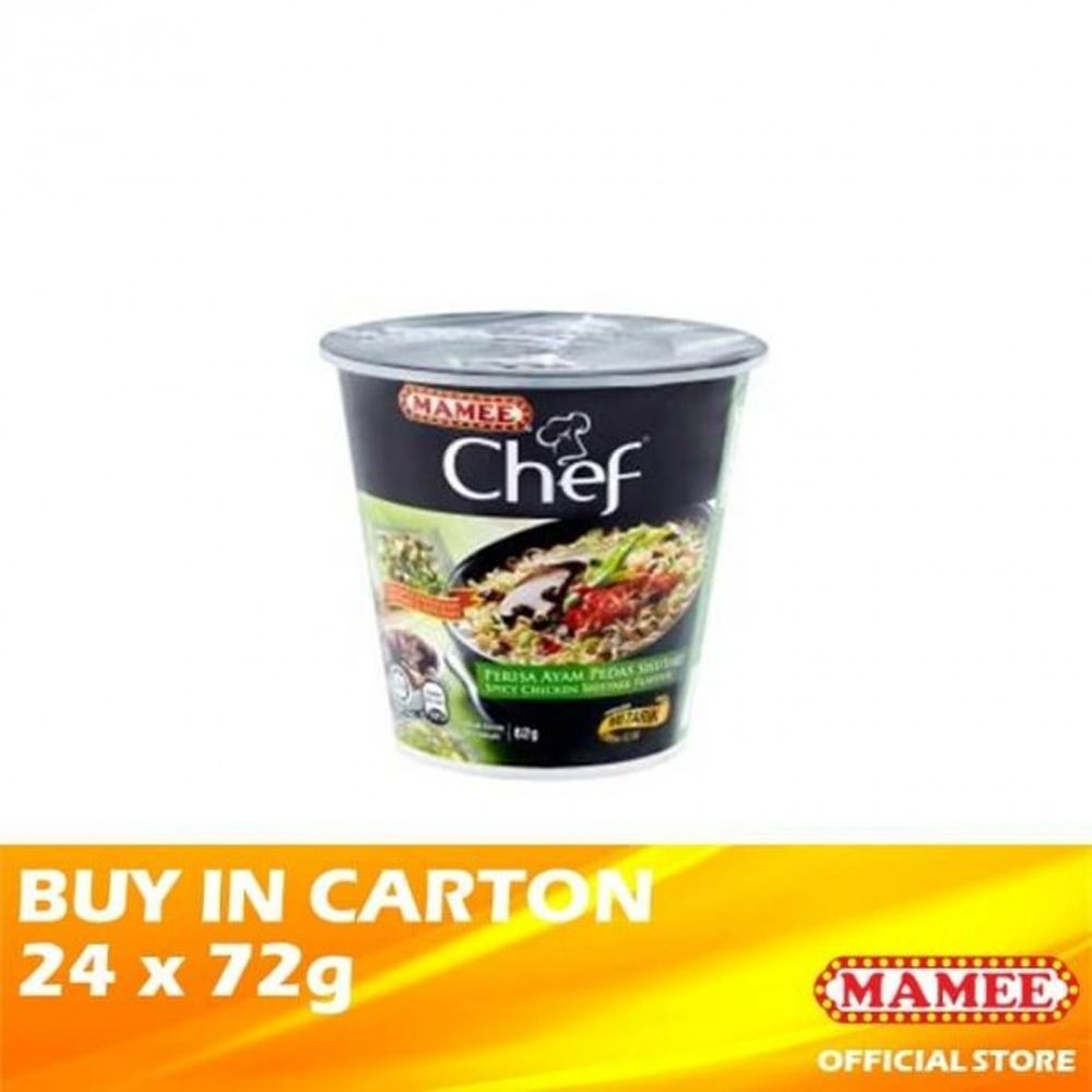 Mamee Chef Cup 1's Spicy Chicken Shiitake 24 x 62g