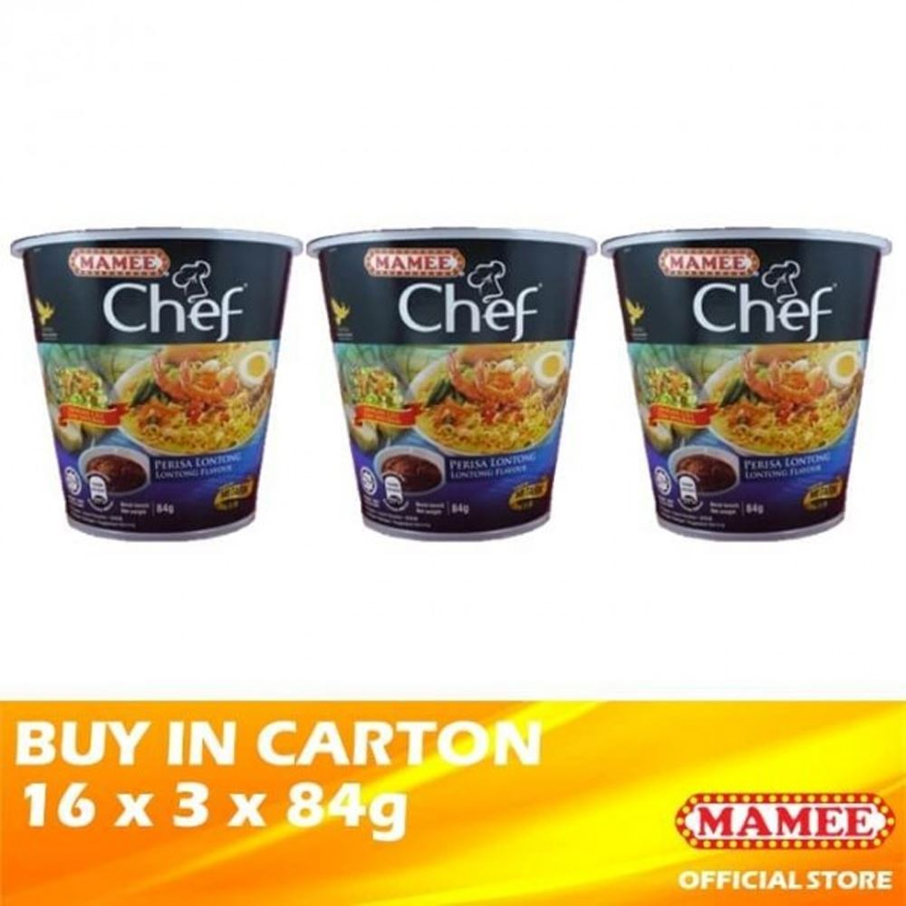 Mamee Chef Cup 3's Lontong 16 x 3 x 84g