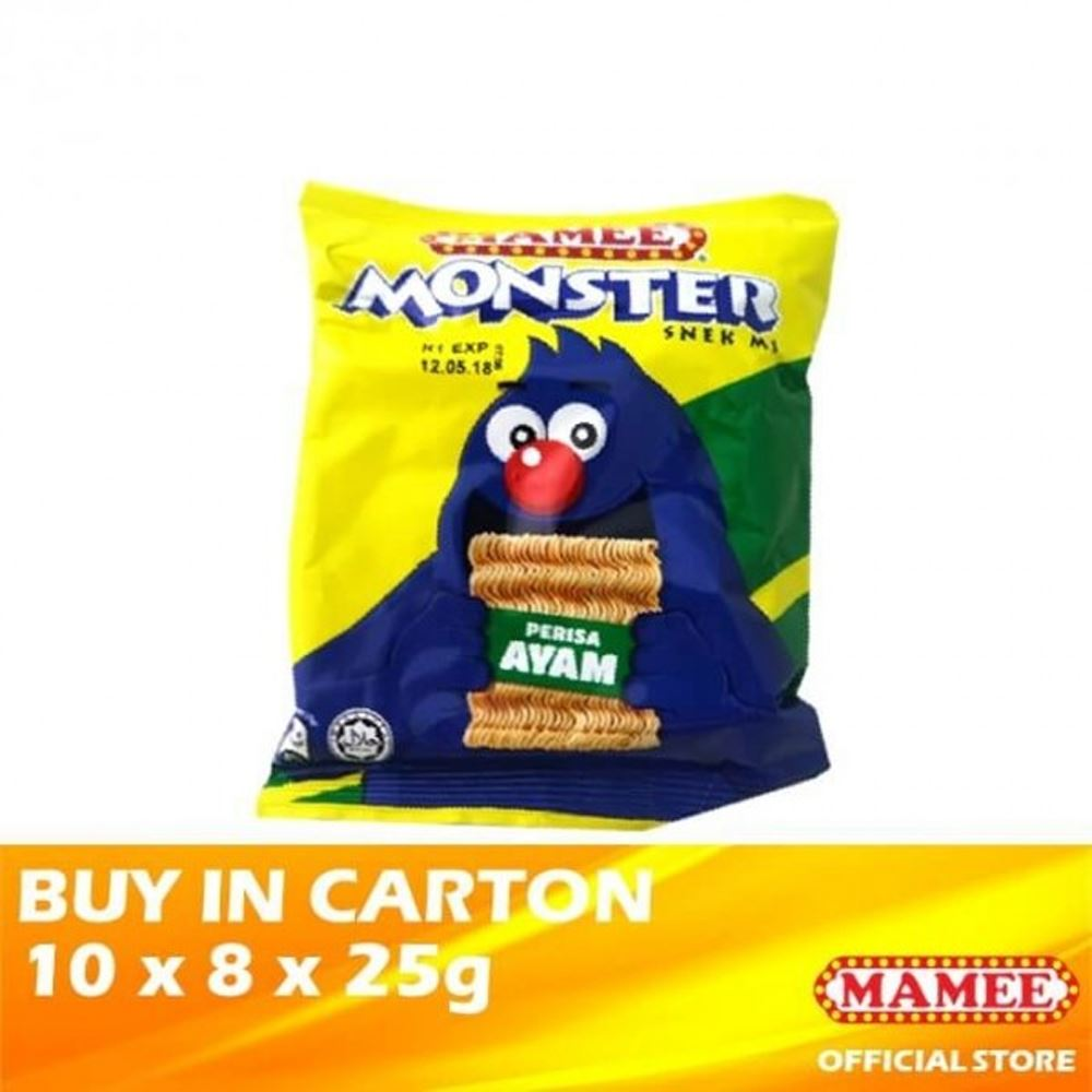 Mamee Monster Noodle Snacks Chicken 10 x 8 x 25g