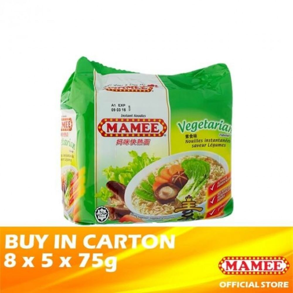 Mamee Premium Instant Noodle Vegetarian 8 x 5 x 75g