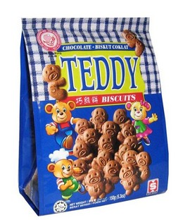 Ping Pong Chocolate Teddy Biscuits 150g x 24pkts